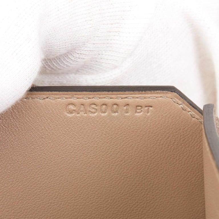 2018 Hermès Gris Asphalte Epsom Leather Pochette Baton De Craie For Sale 3