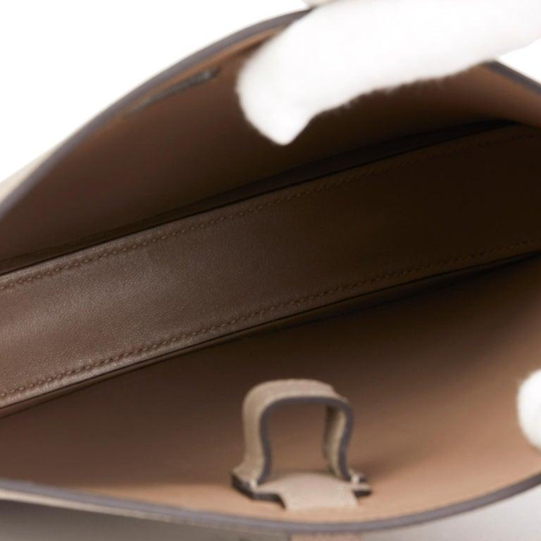 2018 Hermès Gris Asphalte Epsom Leather Pochette Baton De Craie For Sale 4