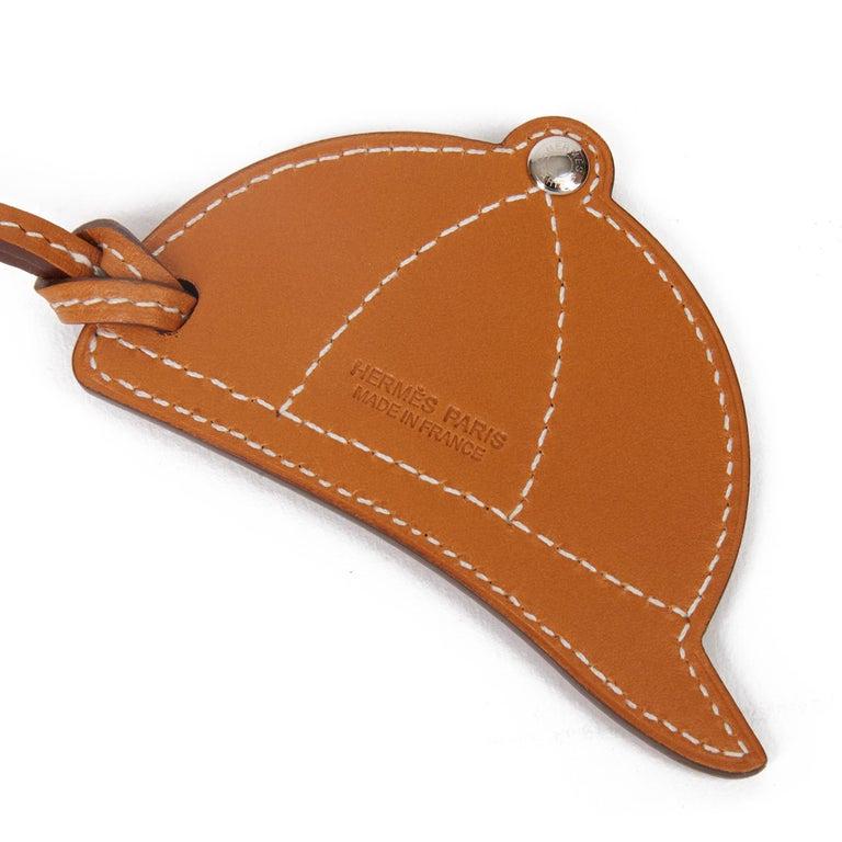 Orange 2018 Hermès Natural Butler & Capucine, Bleu Swift Leather PaddocK Bombe Charm  For Sale