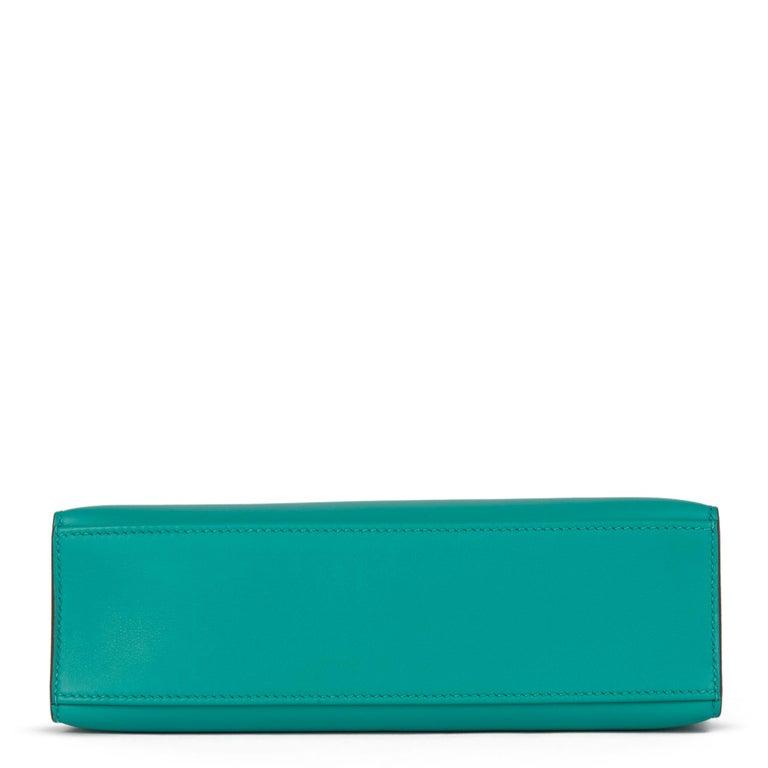 Women's 2018 Hermès Vert Verone Swift Leather Kelly Pochette