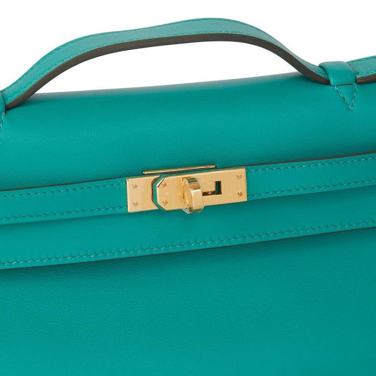 2018 Hermès Vert Verone Swift Leather Kelly Pochette 1