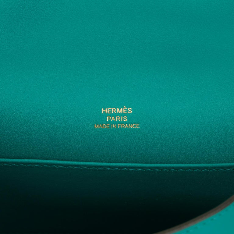 2018 Hermès Vert Verone Swift Leather Kelly Pochette 3