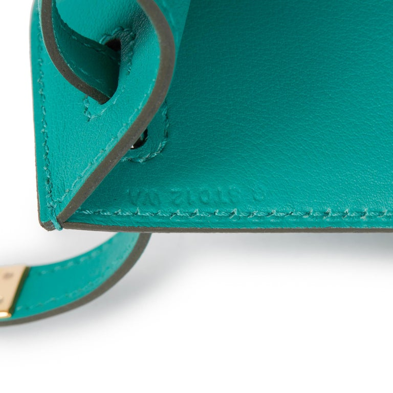 2018 Hermès Vert Verone Swift Leather Kelly Pochette 4