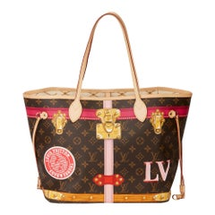 2018 Louis Vuitton Brown Monogram Coated Canvas Summer Trunks Neverfull MM