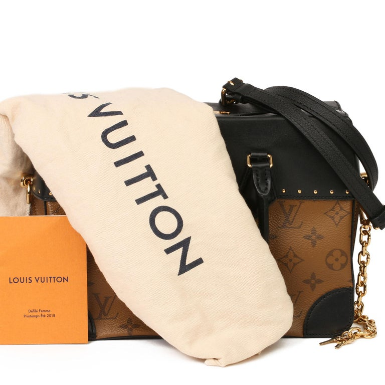 2018 Louis Vuitton Brown Monogram Reverse Canvas and Black Leather City Malle For Sale 8