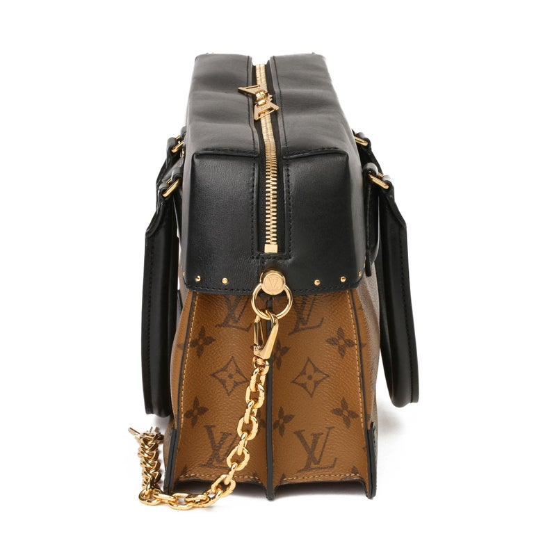 2018 Louis Vuitton Brown Monogram Reverse Canvas and Black Leather City Malle For Sale 1