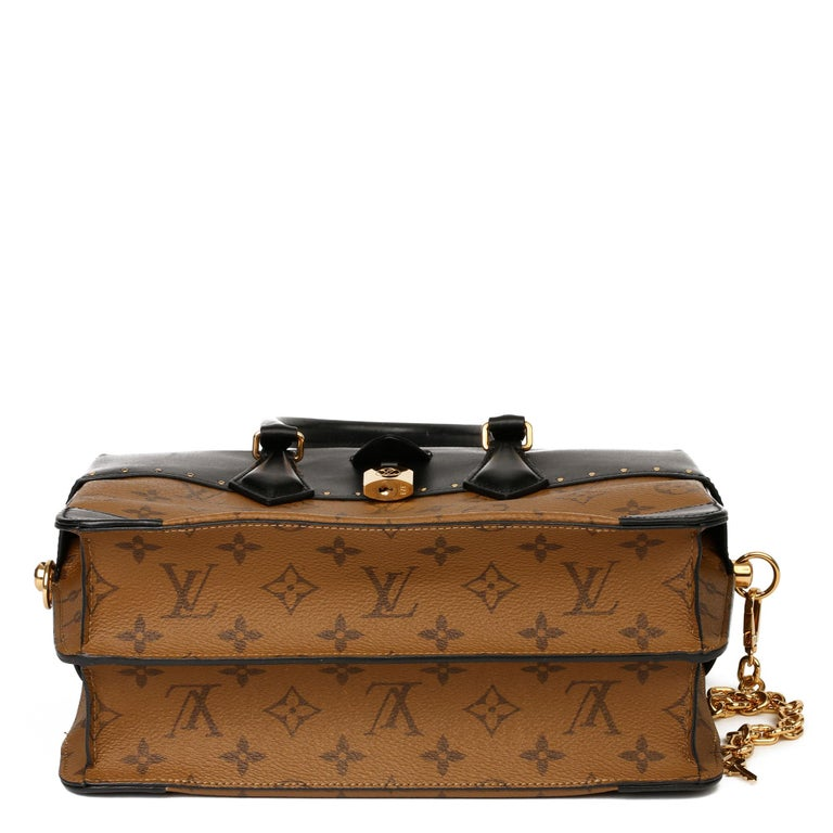 2018 Louis Vuitton Brown Monogram Reverse Canvas and Black Leather City Malle For Sale 3