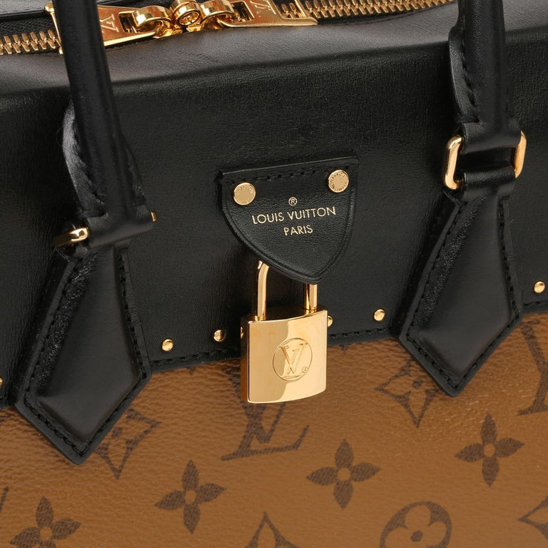 2018 Louis Vuitton Brown Monogram Reverse Canvas and Black Leather City Malle For Sale 4
