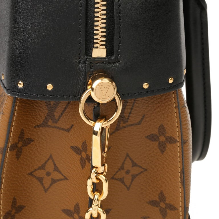 2018 Louis Vuitton Brown Monogram Reverse Canvas and Black Leather City Malle For Sale 5