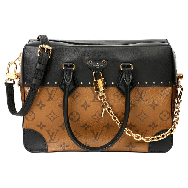 2018 Louis Vuitton Brown Monogram Reverse Canvas and Black Leather City Malle For Sale