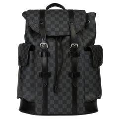 2018 Louis Vuitton Graphite Damier Canvas & Calfskin Leather Christopher Backpac