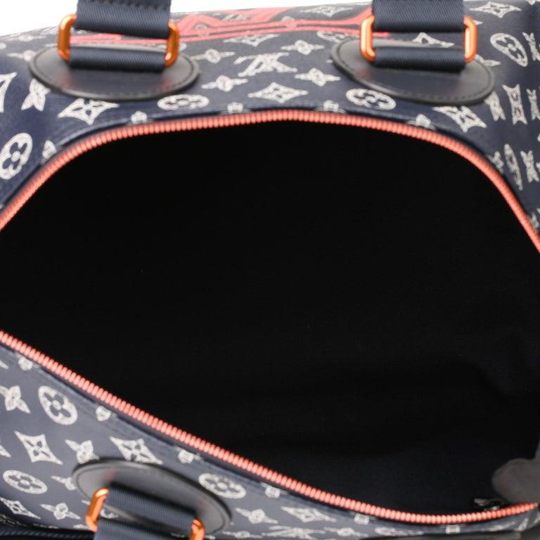 2018 Louis Vuitton Navy Pacific Monogram Canvas & Leather Upside Down Speedy 40  6