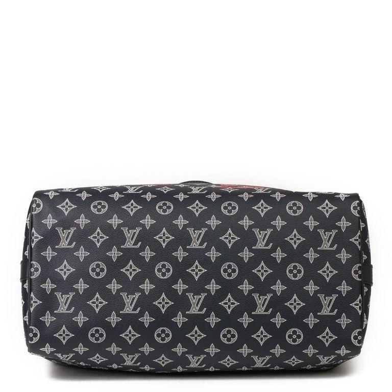 2018 Louis Vuitton Navy Pacific Monogram Canvas & Leather Upside Down Speedy 40  1