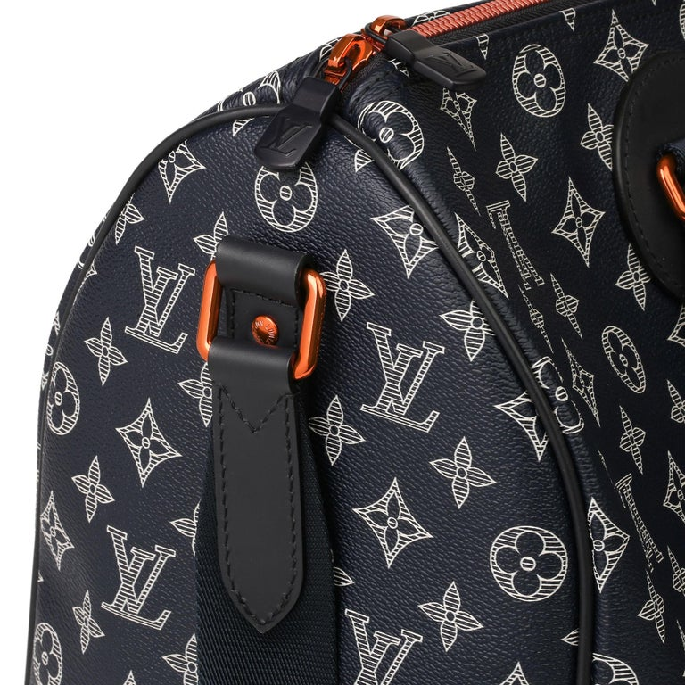 2018 Louis Vuitton Navy Pacific Monogram Canvas & Leather Upside Down Speedy 40  3