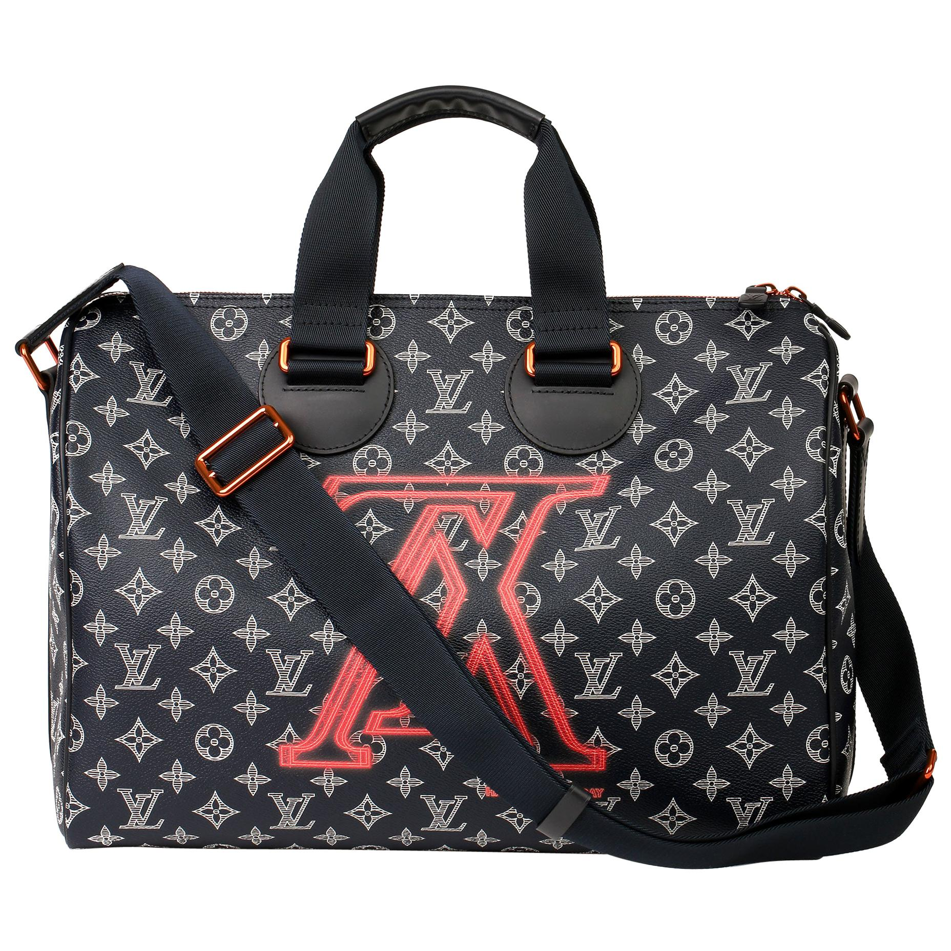 2018 Louis Vuitton Navy Pacific Monogram Canvas & Leather Upside Down Speedy 40