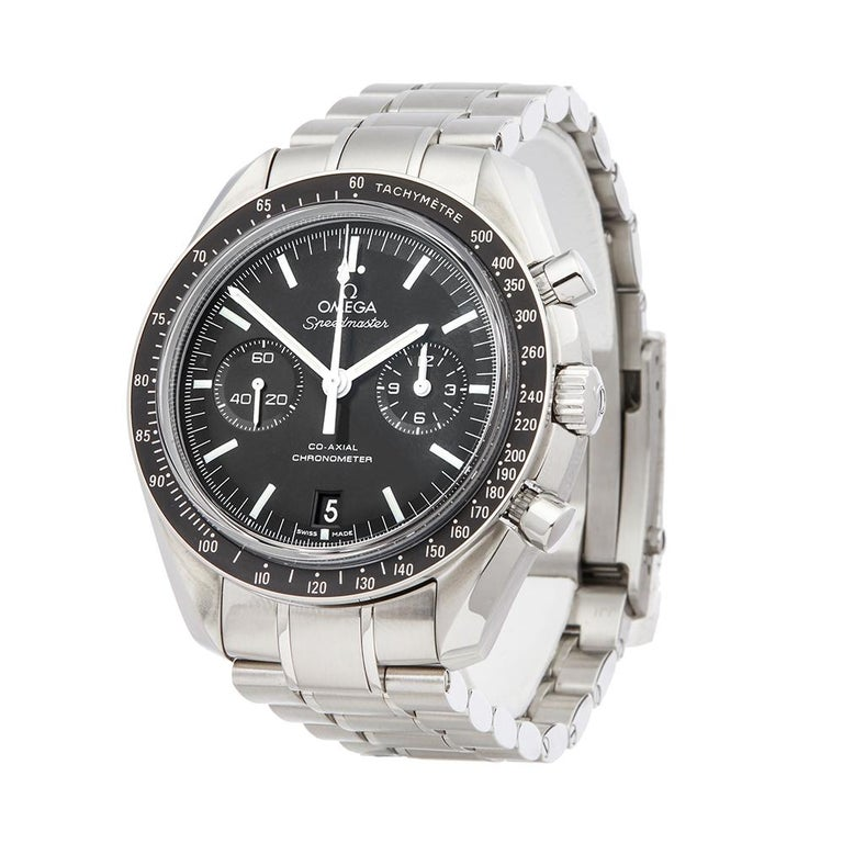 Contemporary 2018 Omega Speedmaster Stainless Steel 31130445101002 Wristwatch  *  *Complete with: Box & Guarantee dated 27th July 2018  *Case Size: 44.25mm  *Strap: Stainless Steel  *Age: 2018  *Strap length: Adjustable up to 18cm. Please note we