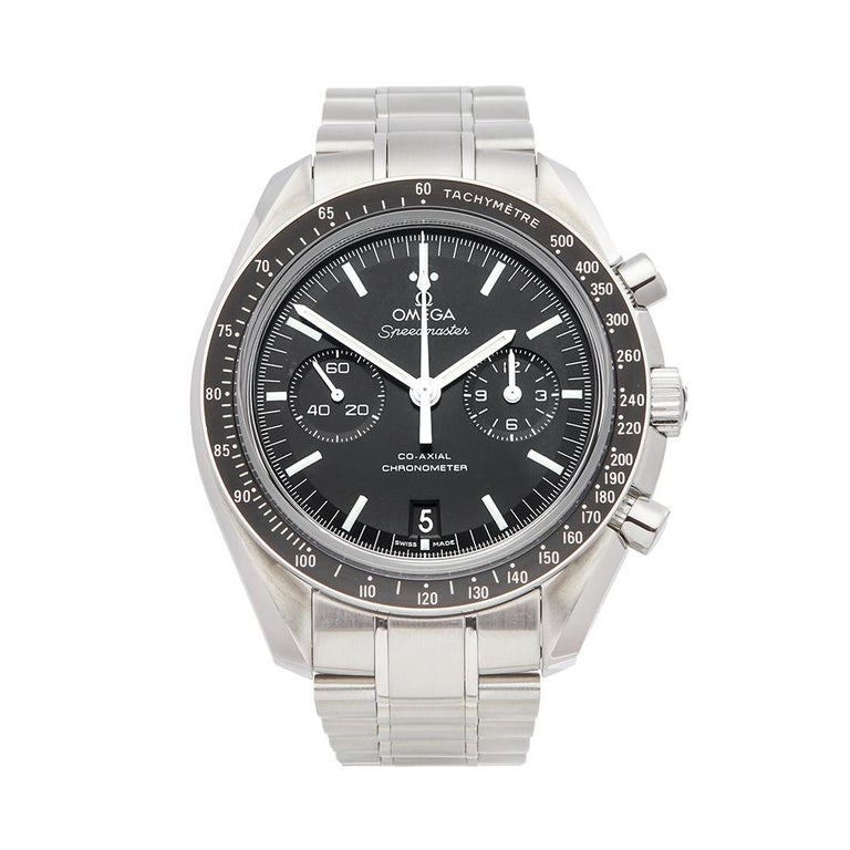 2018 Omega Speedmaster Stainless Steel 31130445101002 Wristwatch For Sale