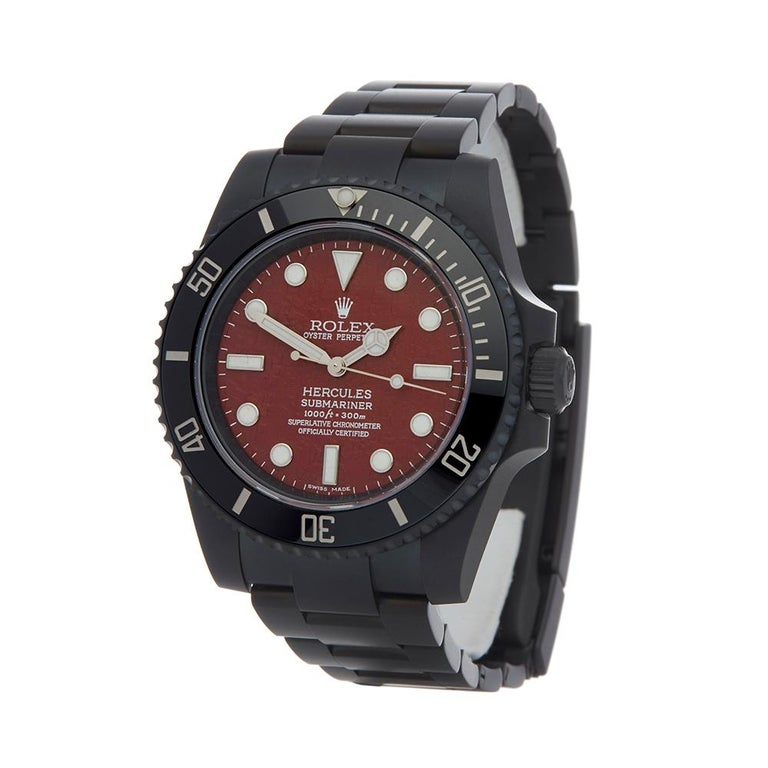2018 Rolex Submariner Hercules Custom Stainless Steel 114060 Wristwatch For Sale 2