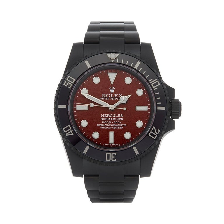 2018 Rolex Submariner Hercules Custom Stainless Steel 114060 Wristwatch For Sale
