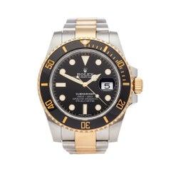 2018 Rolex Submariner Steel & Yellow Gold 116613LN Wristwatch