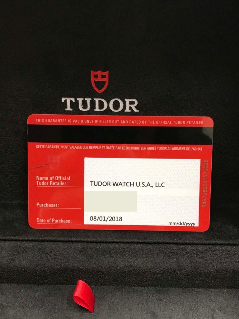 2018 Tudor Heritage Advisor 79620 Stainless Steel Box and Papers In Excellent Condition For Sale In San Diego, CA