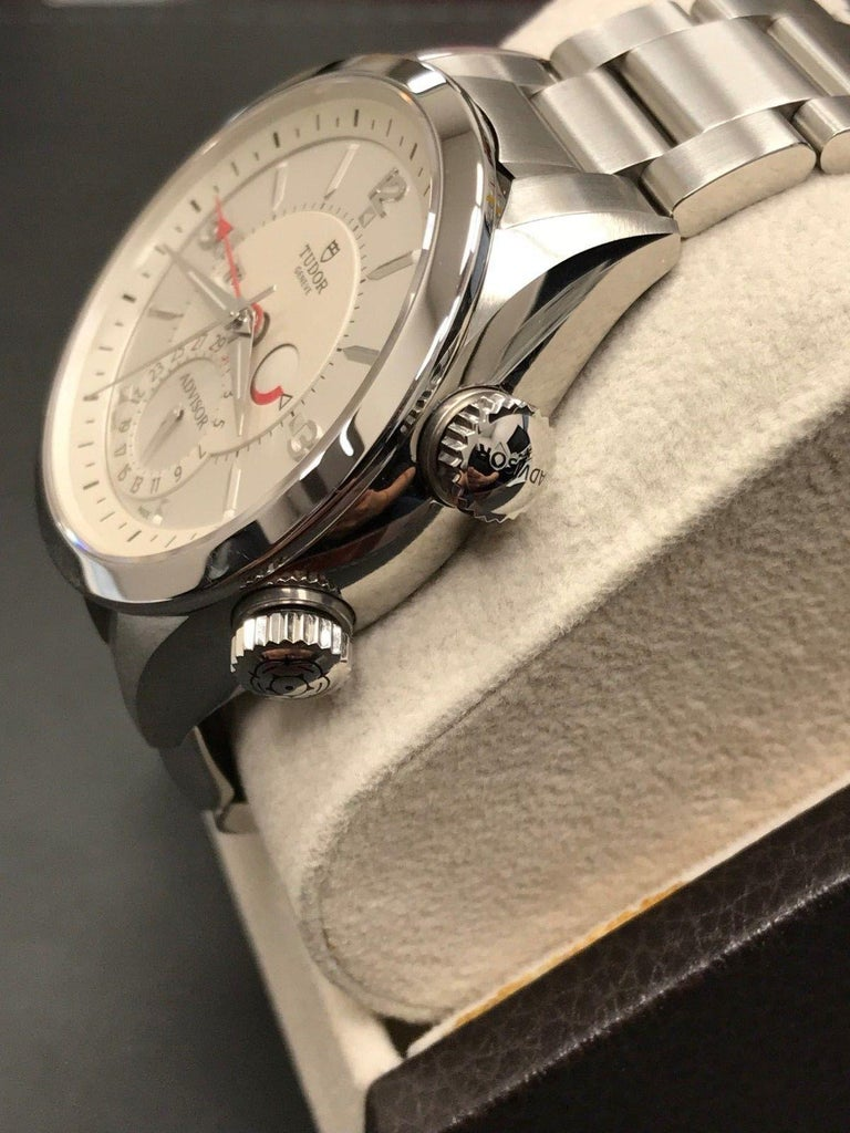 2018 Tudor Heritage Advisor 79620 Stainless Steel Box and Papers For Sale 1
