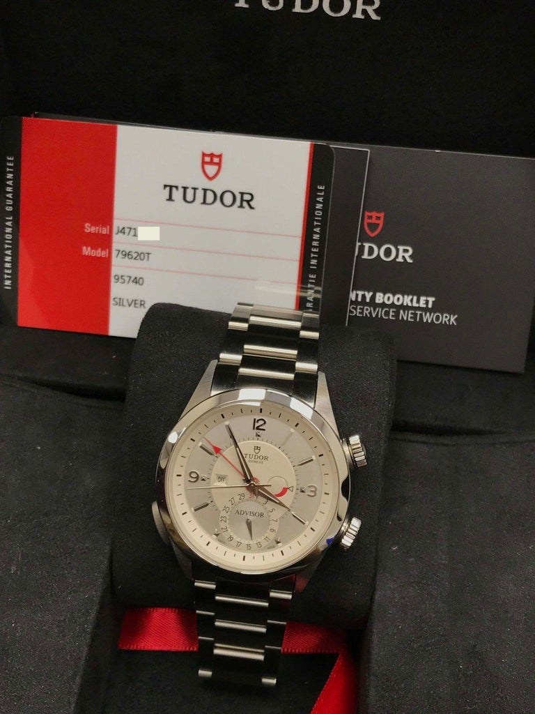 2018 Tudor Heritage Advisor 79620 Stainless Steel Box and Papers For Sale 4