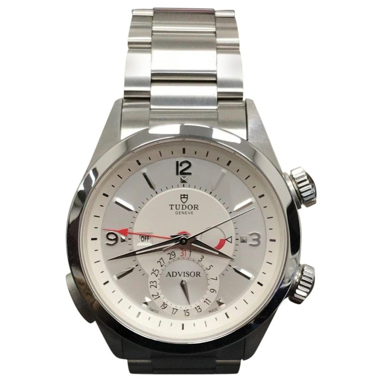 2018 Tudor Heritage Advisor 79620 Stainless Steel Box and Papers For Sale