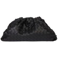 2019 Bottega Veneta Black Woven Lambskin The Pouch
