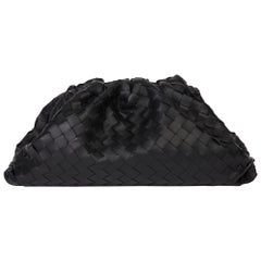 2019 Bottega Veneta Black Woven Lambskin The Pouch