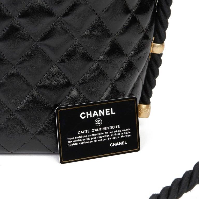 2019 Chanel Black Quilted Aged Calfskin Leather En Vogue Hobo Bag For Sale 7