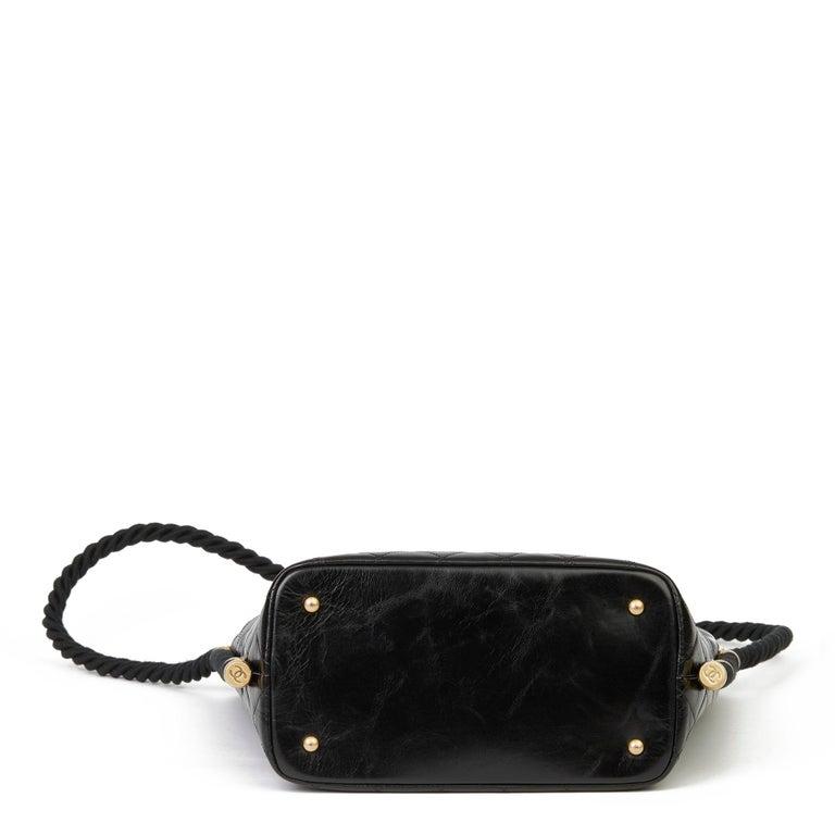 2019 Chanel Black Quilted Aged Calfskin Leather En Vogue Hobo Bag For Sale 1