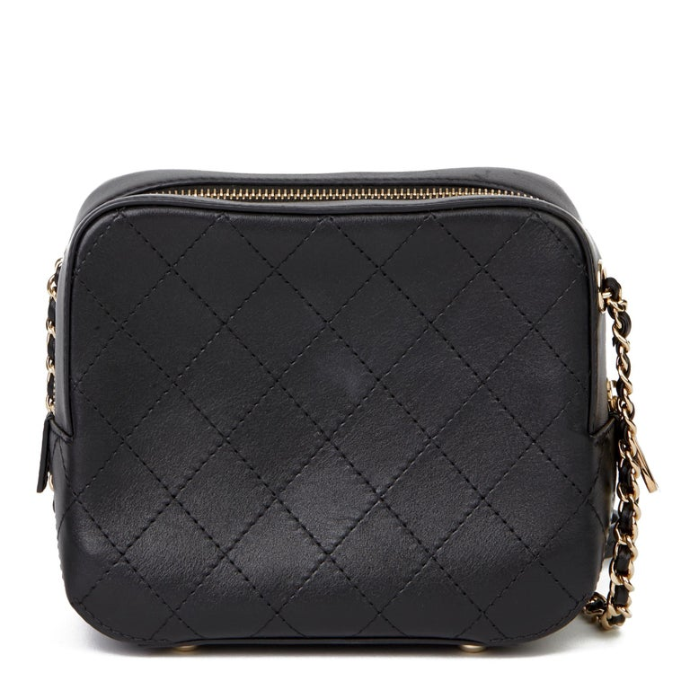 2019 Chanel Quilted Calfskin Mini Classic Camera Bag  For Sale 2