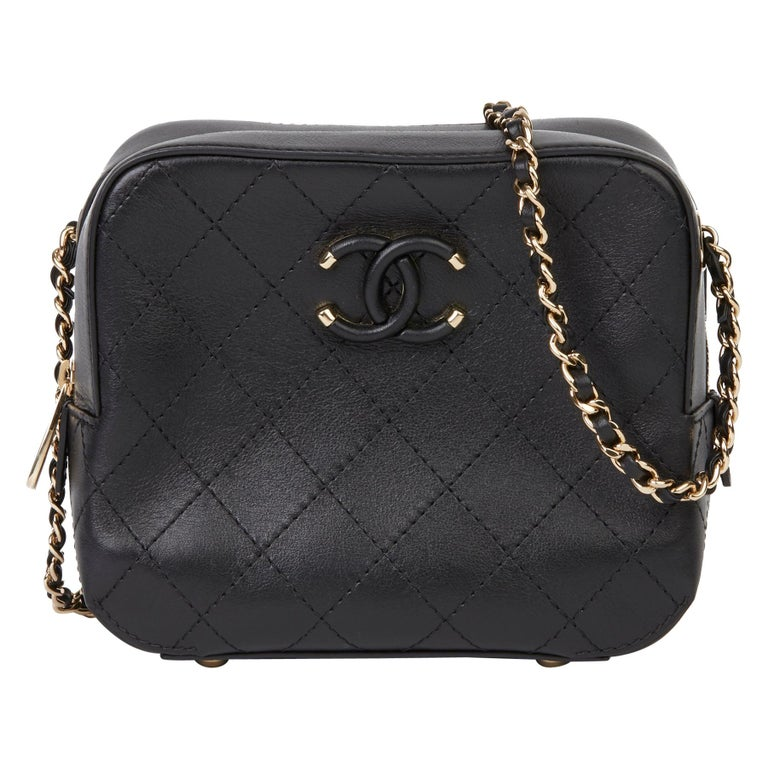 2019 Chanel Quilted Calfskin Mini Classic Camera Bag  For Sale