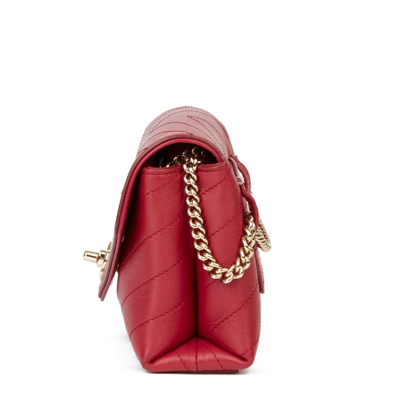 CHANEL Red Chevron Quilted Calfskin Leather Coco Waist Bag  Xupes Reference: HB3408 Serial Number: 26445339 Age (Circa): 2019 Accompanied By: Chanel Dust Bag, Box, Authenticity Card Authenticity Details: Authenticity Card, Serial Sticker (Made in
