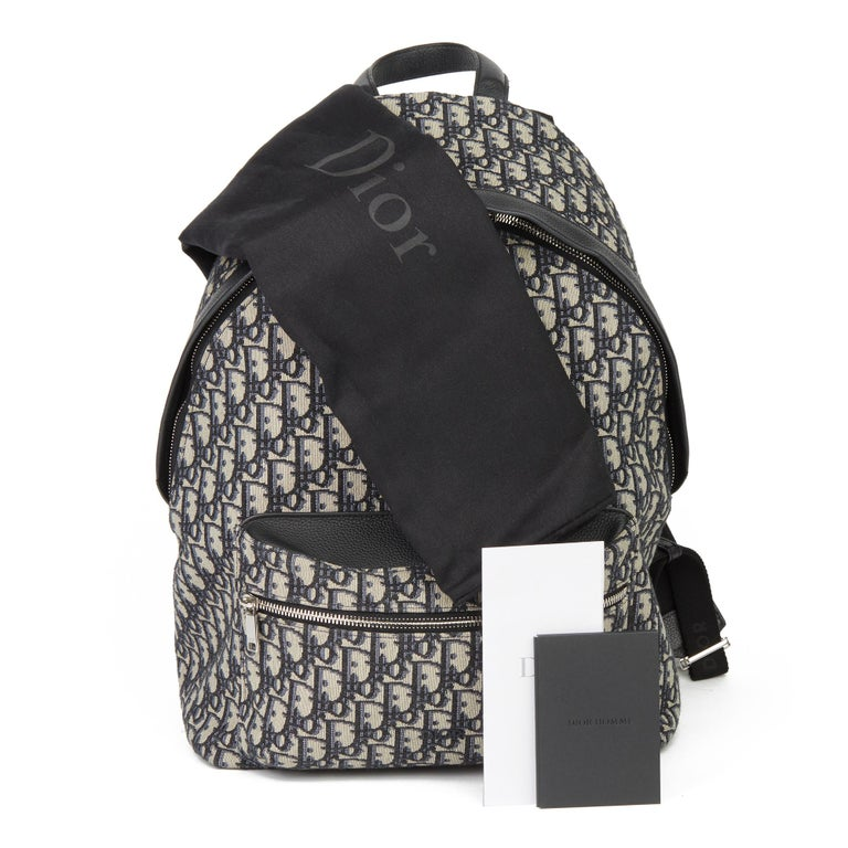 2019 Christian Dior Black Monogram Canvas Oblique Backpack 7