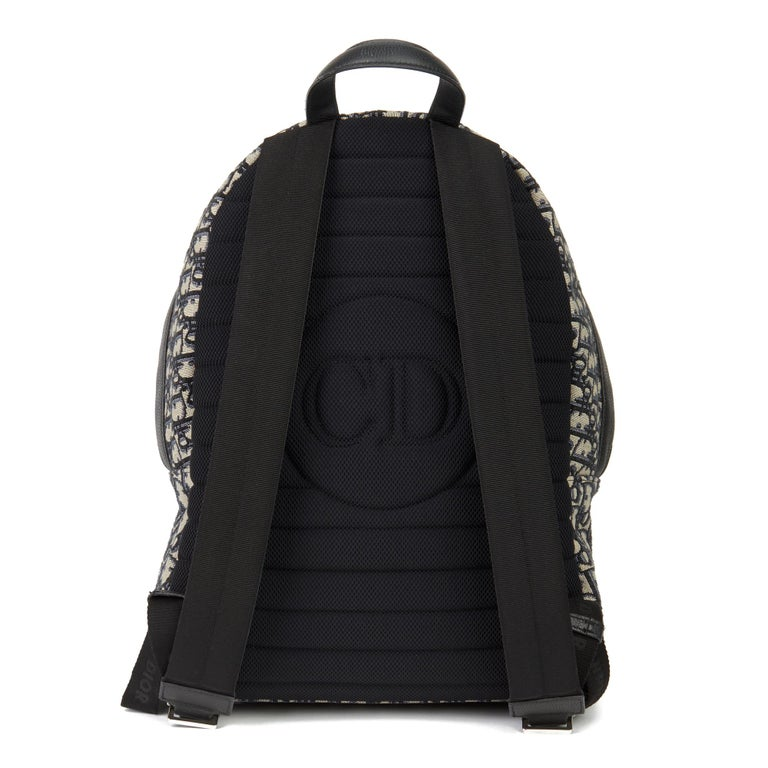 Women's 2019 Christian Dior Black Monogram Canvas Oblique Backpack
