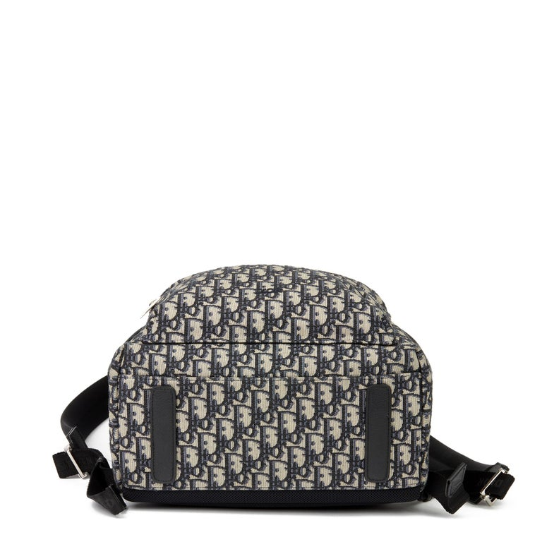 2019 Christian Dior Black Monogram Canvas Oblique Backpack 1