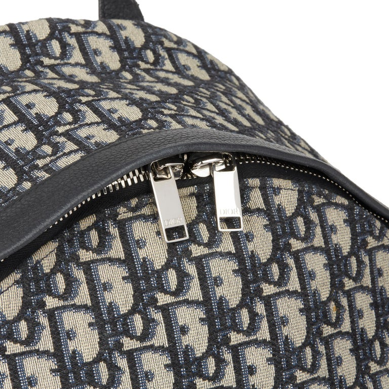 2019 Christian Dior Black Monogram Canvas Oblique Backpack 2