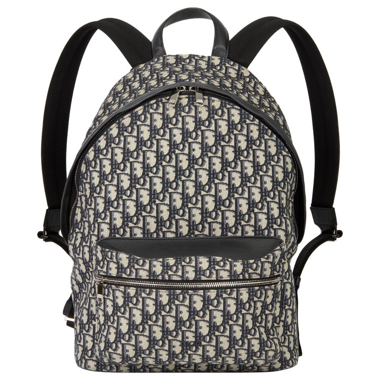 2019 Christian Dior Black Monogram Canvas Oblique Backpack