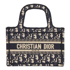 2019 Christian Dior Blue Oblique Monogram Canvas Mini Book Tote