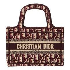 2019 Christian Dior Burgundy Oblique Monogram Canvas Mini Book Tote