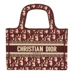 2019 Christian Dior Burgundy Oblique Monogram Canvas Mini Book Tote