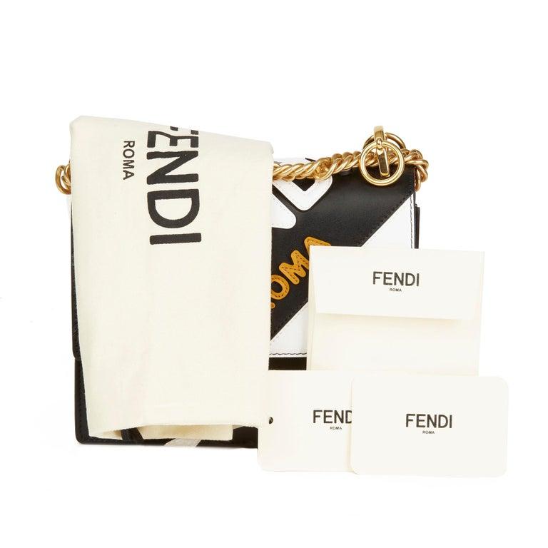 2019 Fendi Multicolour Calfskin Leather Fendi Mania Mini Kan I For Sale 7