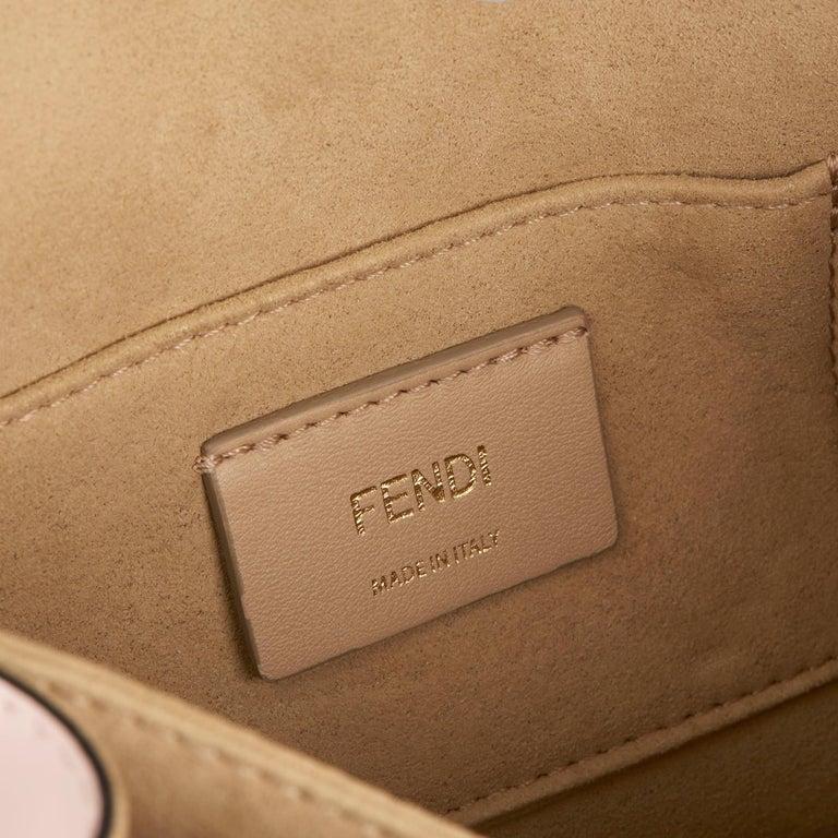 2019 Fendi Multicolour Calfskin Leather Fendi Mania Mini Kan I For Sale 4