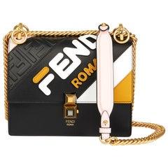 2019 Fendi Multicolour Calfskin Leather Fendi Mania Mini Kan I