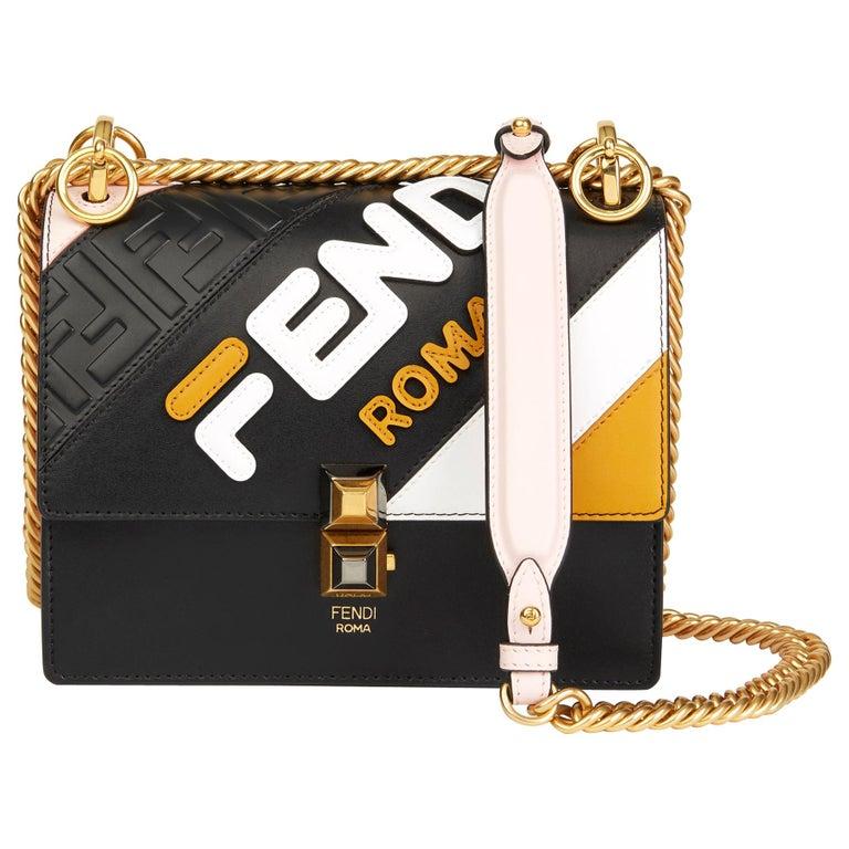 2019 Fendi Multicolour Calfskin Leather Fendi Mania Mini Kan I For Sale