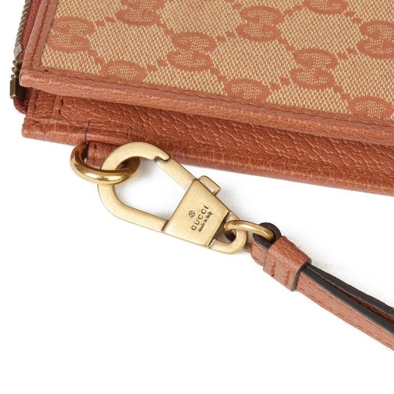 2019 Gucci Brick Monogram Canvas Yankees Pouch For Sale 2