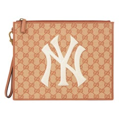 2019 Gucci Brick Monogram Canvas Yankees Pouch