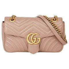 2019 Gucci Dusty Pink Quilted Calfskin Leather Small Marmont